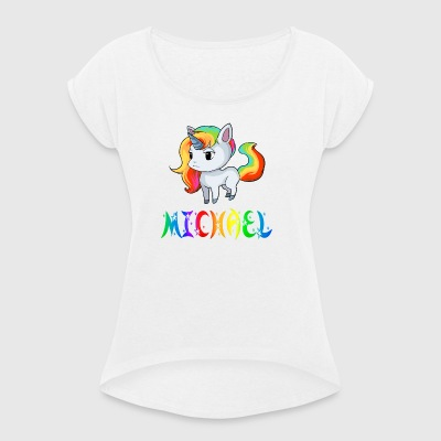 Unicorn Michael - Women's T-shirt with rolled up sleeves