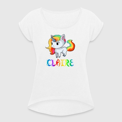 Unicorn Claire - Women's T-shirt with rolled up sleeves