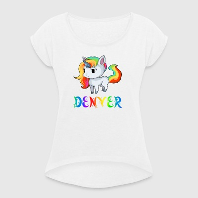 Unicorn Denver - Women's T-shirt with rolled up sleeves