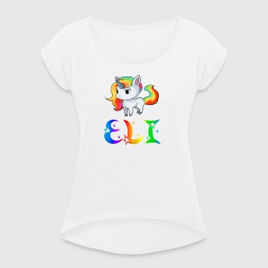 Unicorn Eli - Women's T-shirt with rolled up sleeves