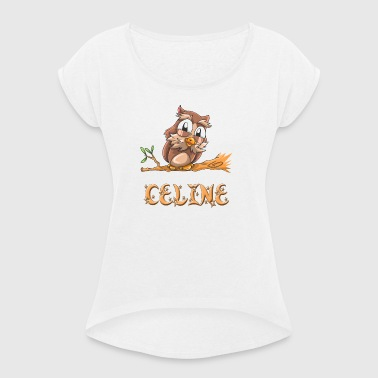 Owl Celine - Women's T-shirt with rolled up sleeves