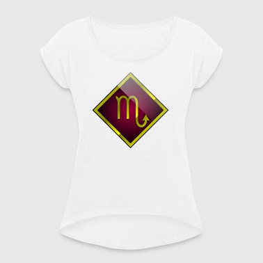 Scorpio astrology horoscope - Women's T-shirt with rolled up sleeves