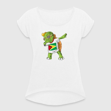 Guyana Dabbing turtle - Women's T-shirt with rolled up sleeves
