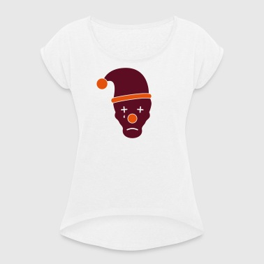 Sad clown - Women's T-shirt with rolled up sleeves