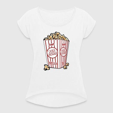 Popcorn - Women's T-shirt with rolled up sleeves