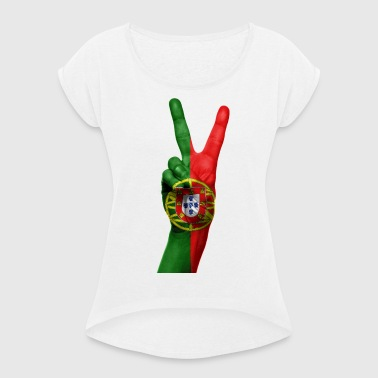 PORTUGAL NEW COLLECTION - Women's T-shirt with rolled up sleeves