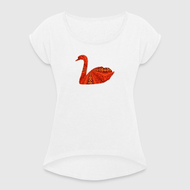 Swan 4 - Women's T-shirt with rolled up sleeves