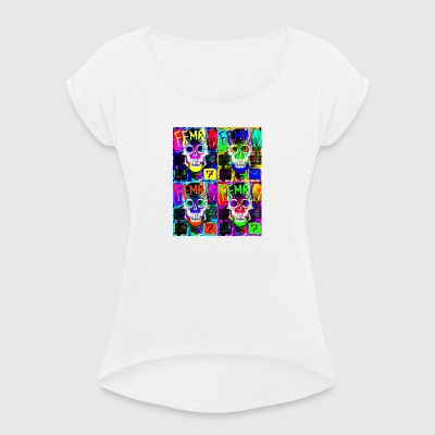 pop art capitan - Women's T-shirt with rolled up sleeves