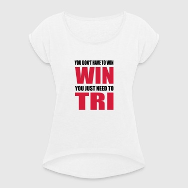 Triathlon - Women's T-shirt with rolled up sleeves