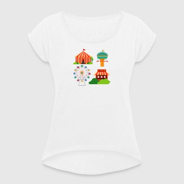 funfair - Women's T-shirt with rolled up sleeves