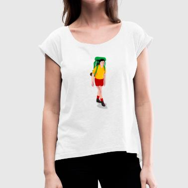 Trekking - Women's T-shirt with rolled up sleeves