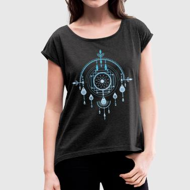 Dream Catcher Dreamcatcher, Dream Catcher Amulet, Indian - Women's T-Shirt with rolled up sleeves