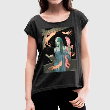 Lovecraft Heart - Women's T-shirt with rolled up sleeves