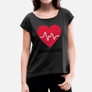 Bradford Heart Bradford - Women's T-Shirt with rolled up sleeves
