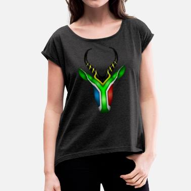 South Africa South African Springbok 2 - Women's T-Shirt with rolled up sleeves