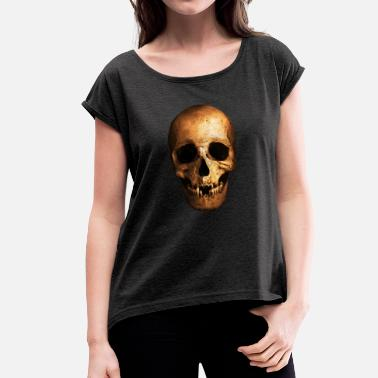 Death Battle human Cranium - Women's T-Shirt with rolled up sleeves
