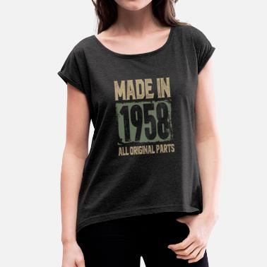 Made 1958 Made In 1958 - Women's T-Shirt with rolled up sleeves