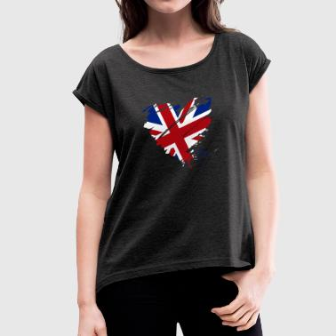 Heart Heart England Soccer Football UK - Women's T-shirt with rolled up sleeves