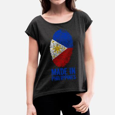 Philippine Made In Philippines / Philippines / Pilipinas - Women's T-Shirt with rolled up sleeves