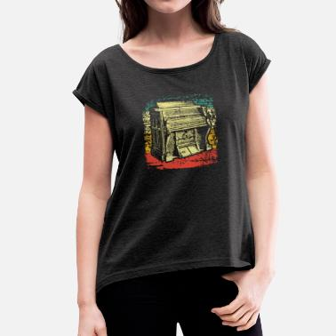 Organ Instrument organ - Women's T-Shirt with rolled up sleeves