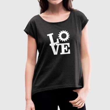 Love Bicycles - Women's T-Shirt with rolled up sleeves