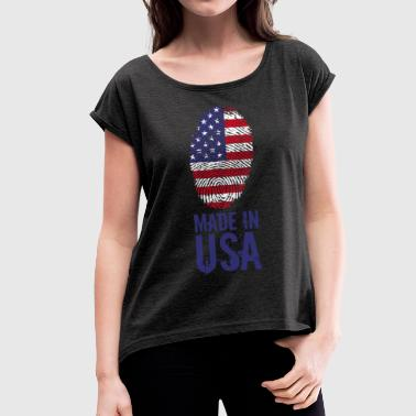 Made In Usa Made in USA / Made in USA America - Women's T-Shirt with rolled up sleeves