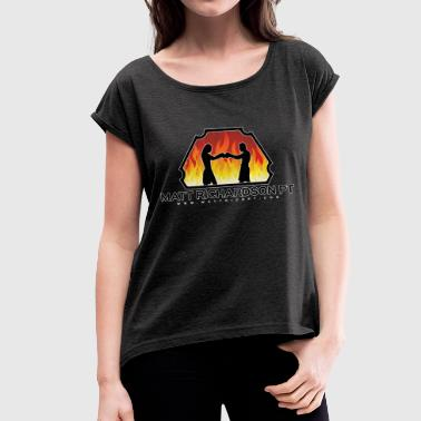 Logo Design - Women's T-Shirt with rolled up sleeves