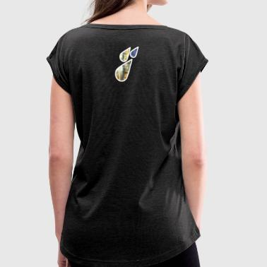 raindrop - Women's T-Shirt with rolled up sleeves