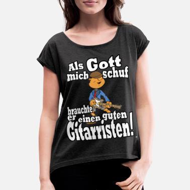 91e30edf3ae363 Band Gutes Guter Gitarrist Shirt für Festival Band Geburtstag - Frauen T- Shirt mit gerollten