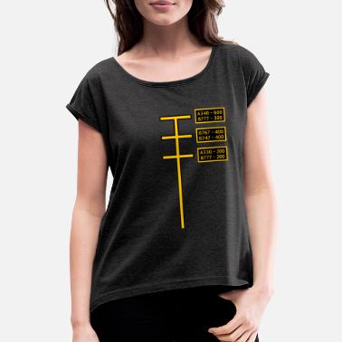Aviation Stand - Women's Rolled Sleeve T-Shirt
