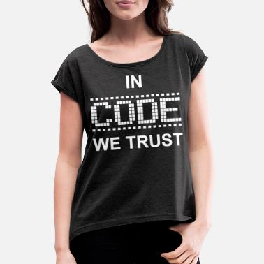 Code CODE - Women's Rolled Sleeve T-Shirt