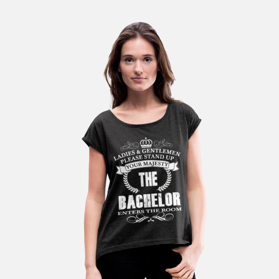 Uni T-Shirts - Majesty The Bachelor - Women's Rolled Sleeve T-Shirt heather black