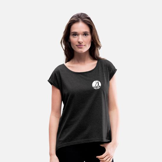 Basket T-Shirts - Basketball Streetball rebound - Women's Rolled Sleeve T-Shirt heather black