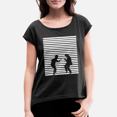 Pulp Mia and Vincent Pulp Fiction - Women's Rolled Sleeve T-Shirt