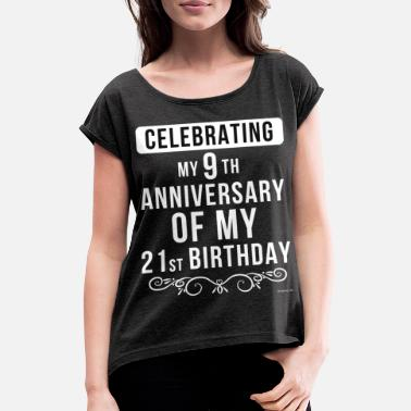 Anniversary Funny 30th Birthday Gift - Women's Rolled Sleeve T-Shirt
