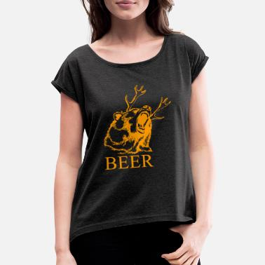 Sunny It's always sunny in Philadelphia beer - Women's Rolled Sleeve T-Shirt