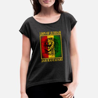Rastafari Reggae Lion Rastafari - Gift - Women's Rolled Sleeve T-Shirt