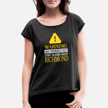 Richmond WARNING! : Richmond - Frauen T-Shirt mit gerollten Ärmeln