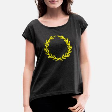 Laurel Wreath Laurel wreath - Women's Rolled Sleeve T-Shirt
