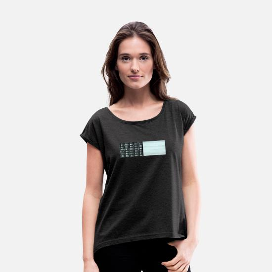 Enviromental T-Shirts - Another mountain - Women's Rolled Sleeve T-Shirt heather black