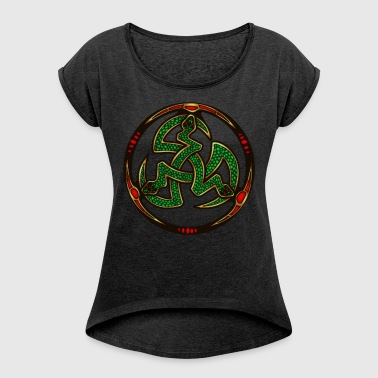 Serpent Triskellion - Women's T-shirt with rolled up sleeves