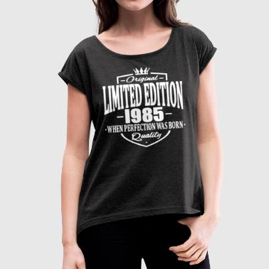 Limited edition 1985 - Women's T-shirt with rolled up sleeves