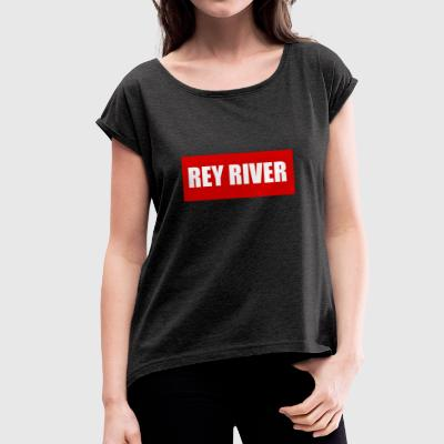 RED - Women's T-shirt with rolled up sleeves