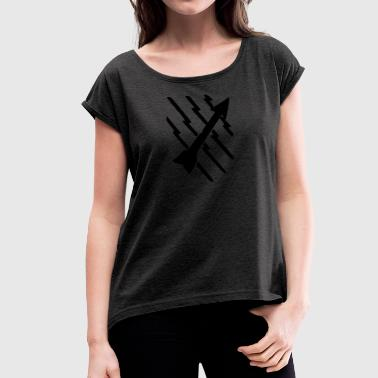 radar Man - Women's T-shirt with rolled up sleeves