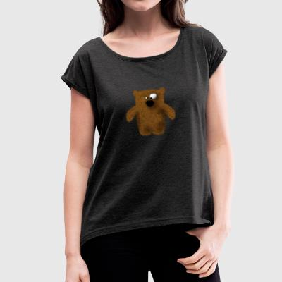 teddy - Women's T-shirt with rolled up sleeves
