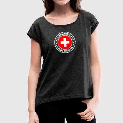 MY HEIMAT CHÊNE-BOUGERIES - Women's T-shirt with rolled up sleeves