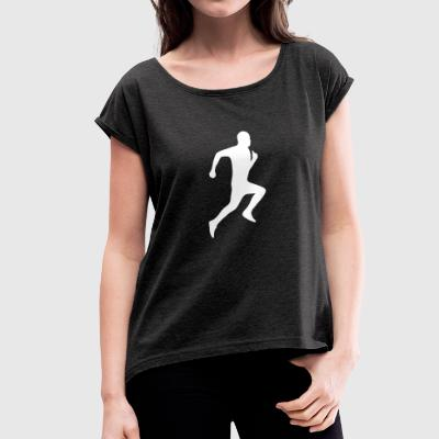 JOGGER RUNNER - Women's T-shirt with rolled up sleeves