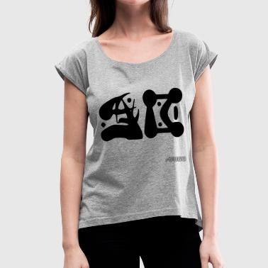 Initials - Women's T-Shirt with rolled up sleeves