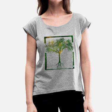 Mother Earth Mother Nature - Frame 04 - Women's T-Shirt with rolled up sleeves
