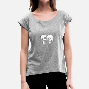 Background WhitLove (transparent background) - Camiseta con manga enrollada mujer